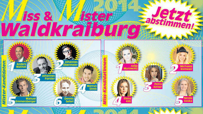 Voting-Start Miss & Mister Waldkraiburg