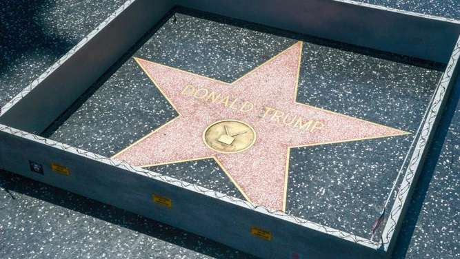 Eingemauert: Donald Trumps Stern auf dem Hollywood Walk of Fame.