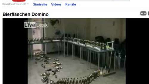 Video: Bierflaschen Domino