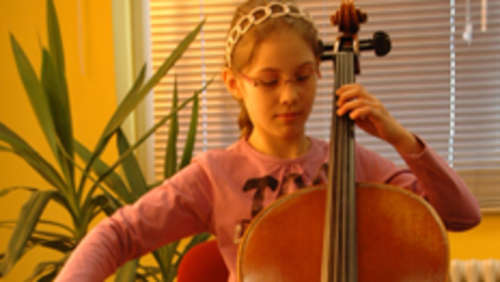 Junges Talent am Cello