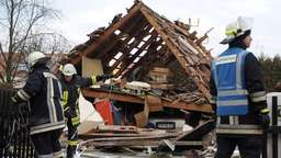 Haus in Oberbayern explodiert - zwei Tote