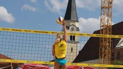 Beachevent in Mühldorf: Das Damenfinale