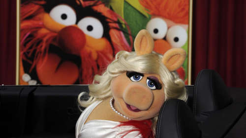 Miss Piggy bei der Fashion Week in Berlin