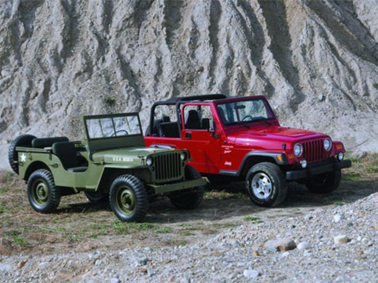 Willys MB (1943) und Jeep Wrangler (1996).