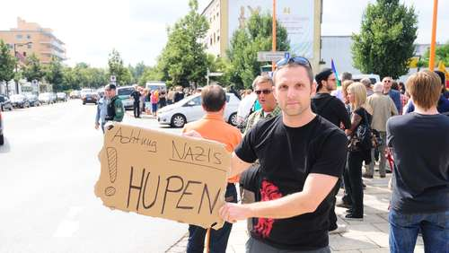 Nazi-Demo in Burghausen