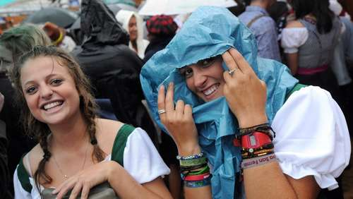 Wiesn-Start im Regen: Impressionen