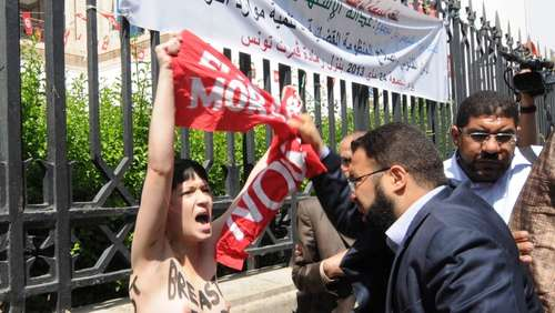 "Protest ""Oben ohne"": Femen-Aktion in Tunis"