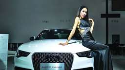 Hot? Hostessen auf der Auto Expo in China