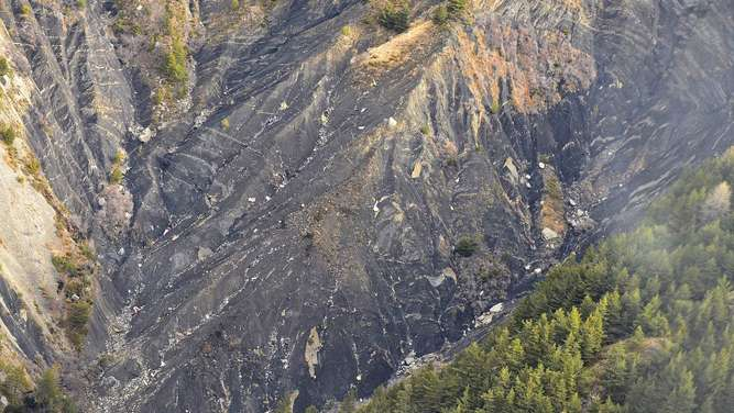 Germanwings, Absturz, Berg, Absturzort