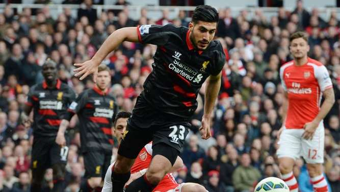 Emre Can spielt für den FC Liverpool in der Premier League. Foto: Andy Rain