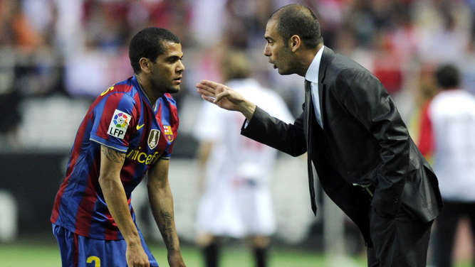 Pep Guardiola, Dani Alves