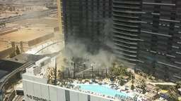 Feuer am Pool in Las-Vegas-Hotel: Bilder