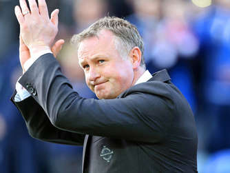 Nordirlands Nationaltrainer bei der EM 2016: Michael O'Neill.