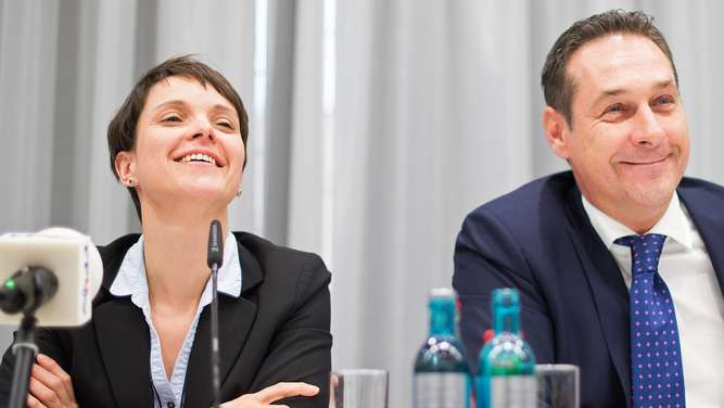 Frauke Petry und Heinz-Christian Strache