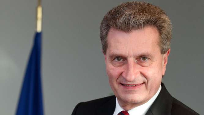 Günter Oettinger, Member of the EC in charge of Energy.