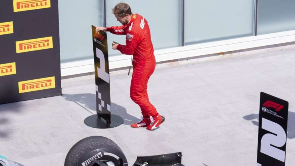 Sichtlich bedient nach dem Rennen in Montréal: Sebastian Vettel. Foto: Paul Chiasson/The Canadian Press/AP
