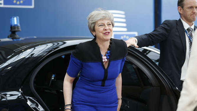 Theresa May in Brüssel