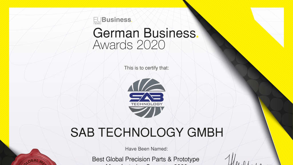 SAB Technology GmbH: German Business Award