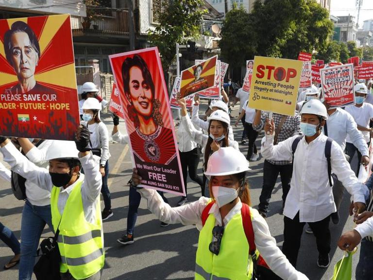 Proteste in Myanmar